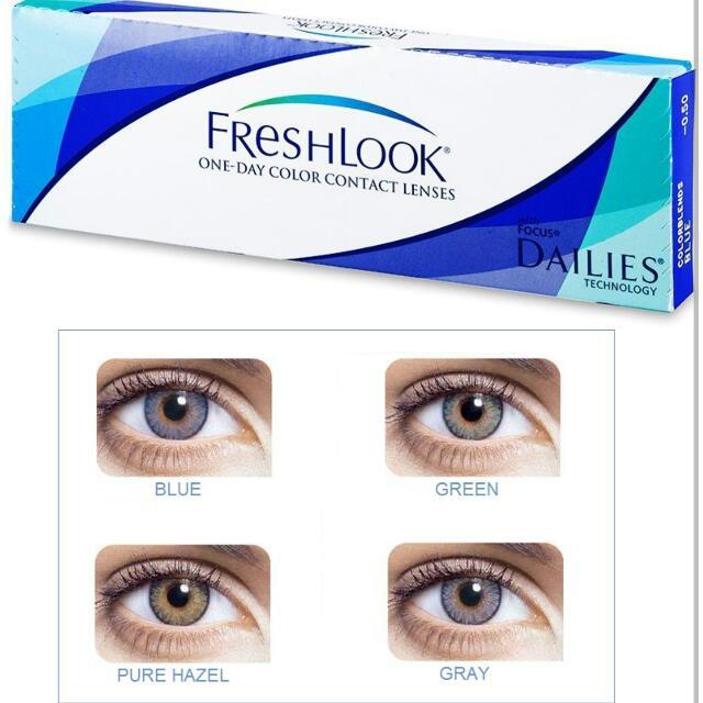 افضل نوع عدسات طبيه للعيون الحساسه fresh look lenses