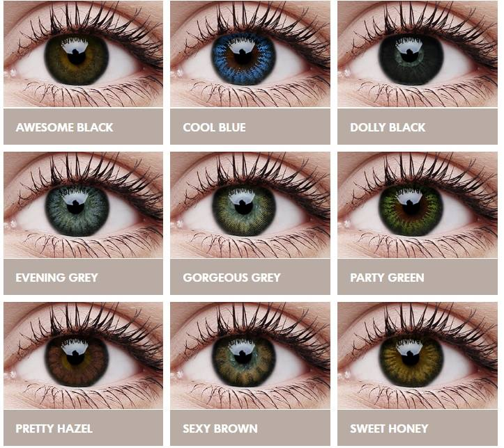 لون العدسات المناسب للعيون الواسعة