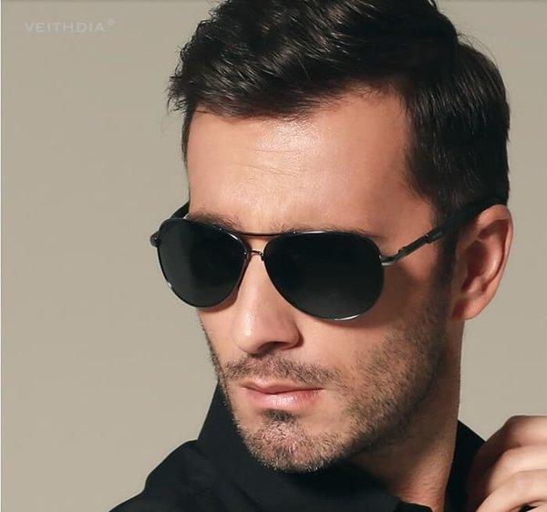 ddb83916e كيفية اختيار النظارات الشمسية المناسبة للوجه للرجال بالصور - عدسات