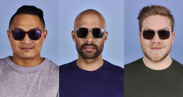 كيفية اختيار النظارات الشمسية المناسبة للوجه للرجال بالصور