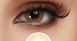 لون العدسات المناسب للعيون البنية